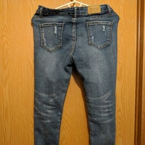 Denim - Distressed Stretch Skinny Jeans